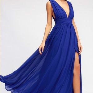 Lulu's Heavenly Hues Royal Blue Maxi Dresss
